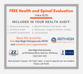 Free Health and Spinal Evaluation