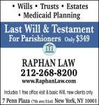 Last Will & Testament for Parishioners